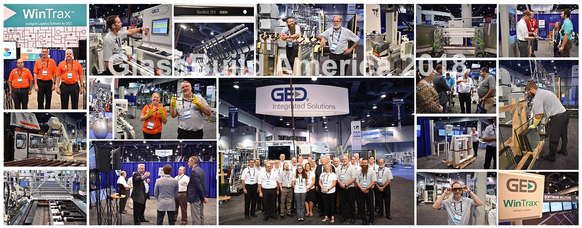 GlassBuild America 2018 Photo Collage