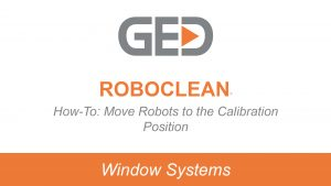RoboClean how to move robots into the calibration position video thumbnail