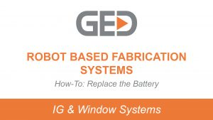 Robot based fabrication systems how to replace the battery video thumbnail