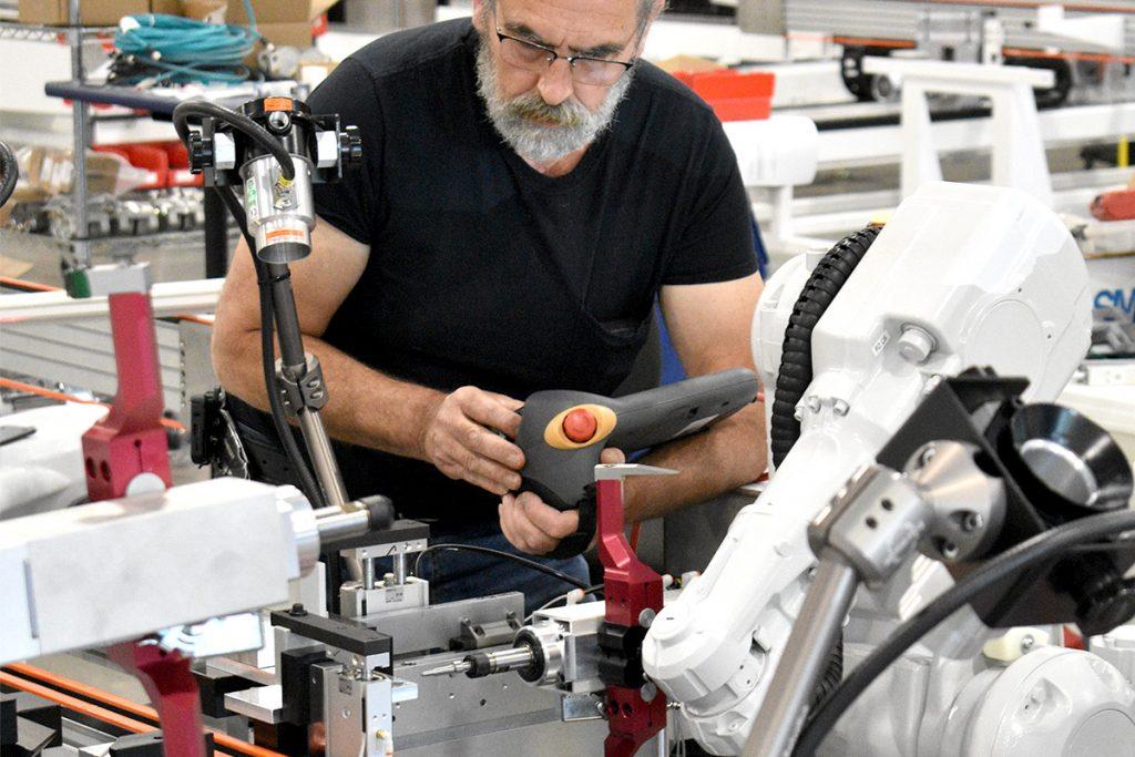 employee programming robots